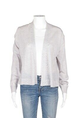 BANANA REPUBLIC 100% Merino Wool Cardigan Large Gray Short Open Sweater Top | eBay