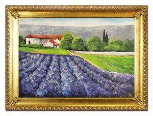 Quadro-a-Olio-Dipinto-Immagine-Mano-con-Telaio-Barocco-Arte-G96524