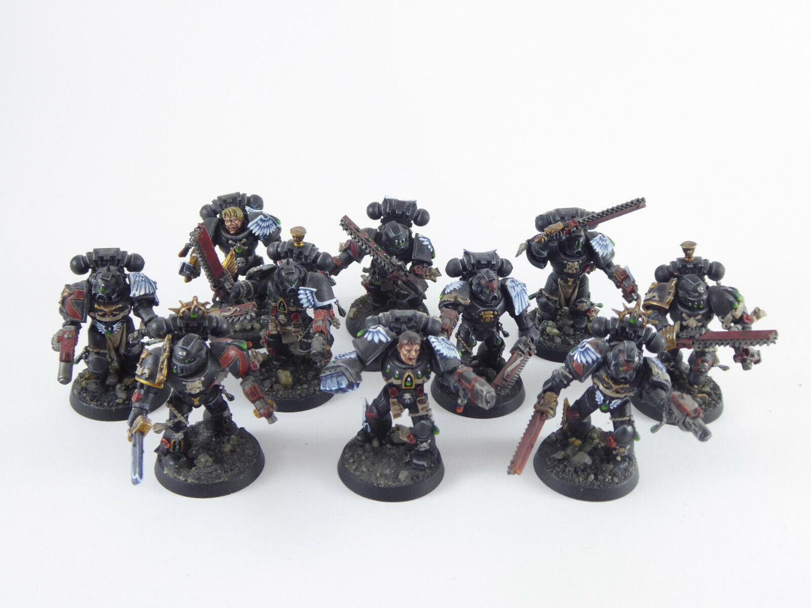 10 uomini Compagnia Morte-Death azienda della Blood Angels-molto bene dipinto  -  shopping online di moda