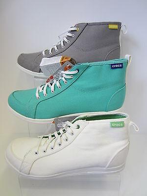Erwachsene Crocs Schnürer leicht Hi Top Schuhe UK Größen 3-9 mittelhohe Sneaker
