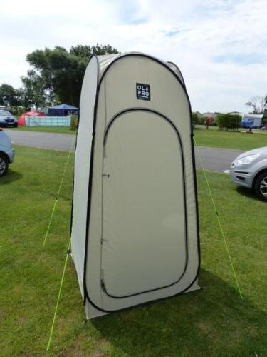 Toilette Tente Camping Stockage Tente QUICK Pitch Pop Up-OLPro gris//noir