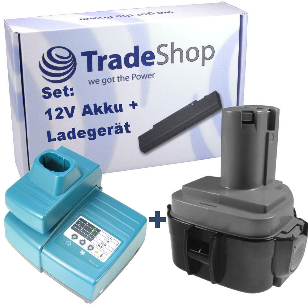 2in1 2in1 2in1 set Batterie 12v 3000mah ni-MH + Chargeur pour Makita 5093dz 6211d 6211 DWHE f14b00