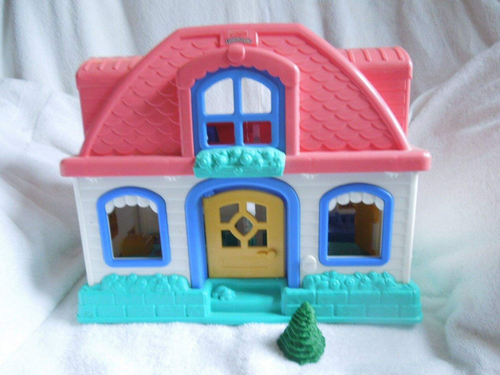 Fisher Price Little People Sweet Sounds Home Home Home Pink roof characters tree works 866a01