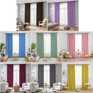 Details about Modern Blackout Curtains Window Blinds Finished Drapes for  Living Room Decor