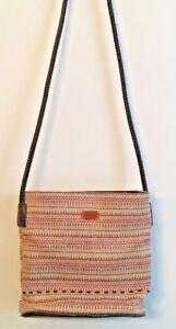 d2b1c6f85a Image is loading Relic-Brand-Woven-Handbag-Boho-Chic-Braided-Brown-