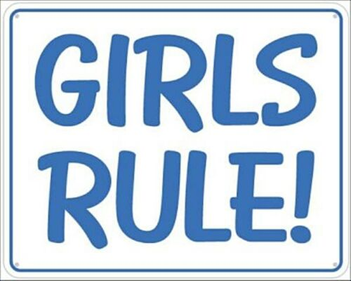 ss Girls Rule aluminium wall sign REDUCED TO CLEAR