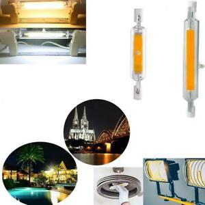 R7s-LED-78mm-118mm-7W-12W-15W-25W-Dimmbare-Gluehlampe-Glaskeramiklampe-Mode