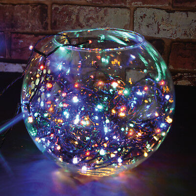 Franco 40 Led Multi Coloured Fairy Lights Christmas Tree Xmas Outdoor + 6 Free Hd Batts