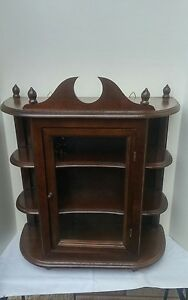 Image Is Loading Vintage Wall Hanging Curio Cabinet Shelf Table Top