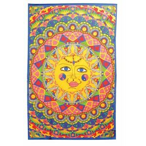 Multi-Color Sun Psychedelic Hippie Boho Bohemian Tapestry Bedspread Wall Hanging