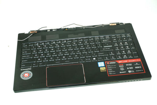 New Replacement for MSI GE63 GE63VR Palmrest Upper Case Keyboard Bezel Cover