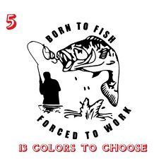 Bass Fishing Vinyl Stickers decals,car,window,van, Laptop (REF NO 5)
