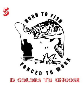 bass trout salmon jdm for car window laptop truck signs HOOKED fishing decal