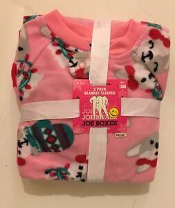 7e8bda64e7d1 NEW Infant Toddler Girl Boy Joe Boxer 2 Pack Footed Pajamas 18M 2T ...