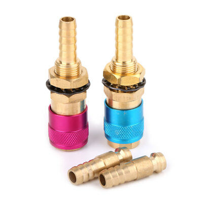 2x 8mm Water-Cooled /& Gas Adapter Quick Connector Fitting For TIG Welding Torch