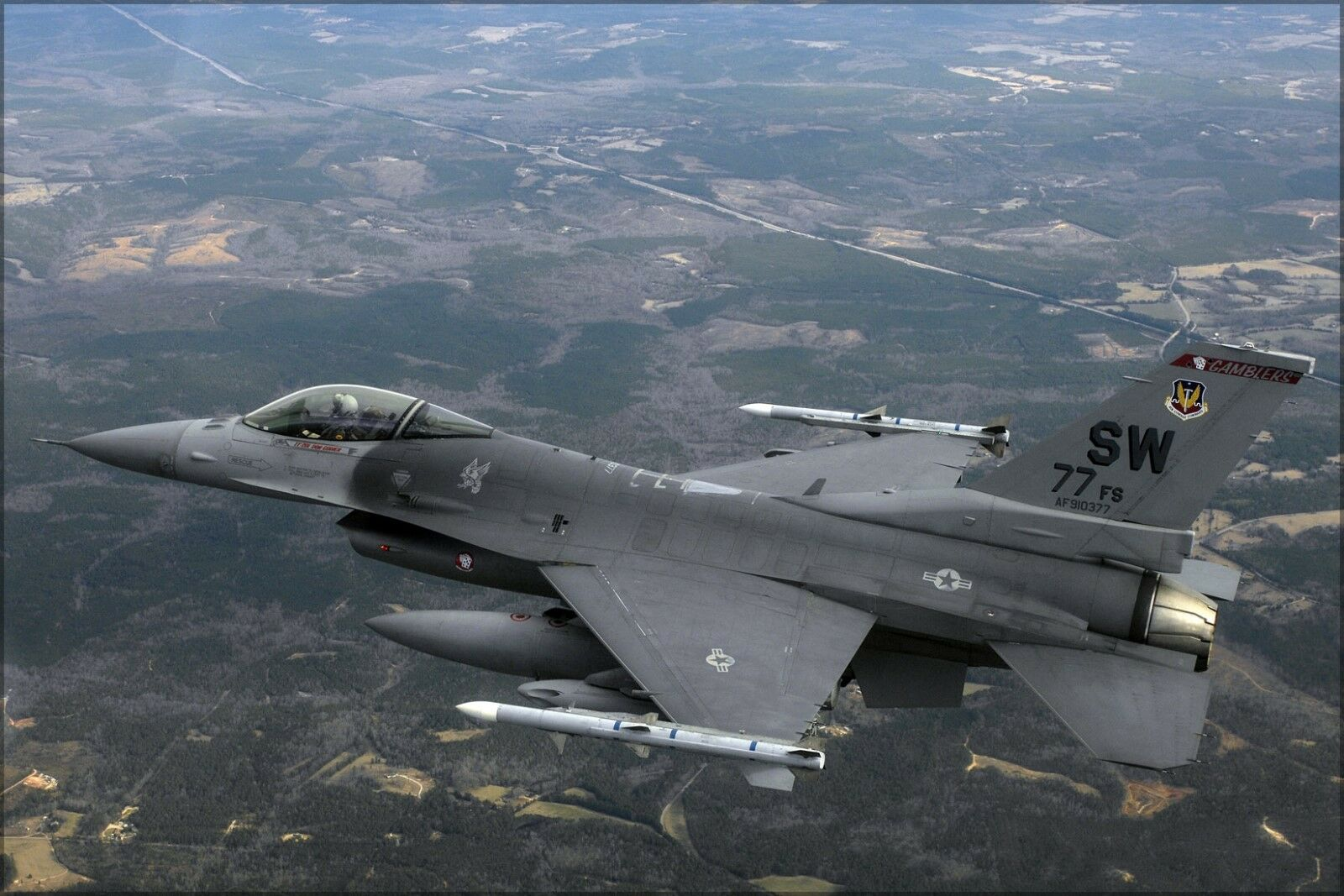 Plakat, Viele Größen; F-16cj Fighting