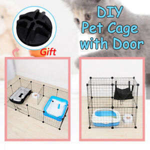 2-4-6-8-10pcs-Dog-Fence-Cage-DIY-Pet-Indoor-Combination-Assembly-Steel-Wire