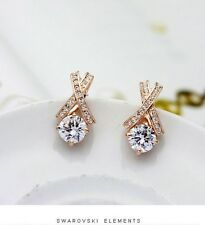 Lusso Orecchini A Farfalla Cristallo Placcato oro San valentino Idea regalo