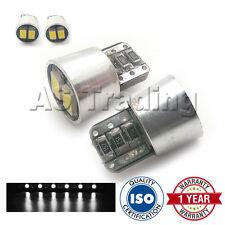 2X BIANCO W5W 501 LUCI DI POSIZIONE TARGA INTERNO RIPETITORE 4xSMD LAMPADINE LED