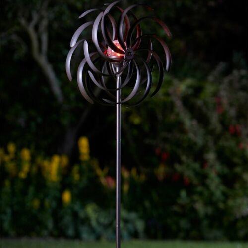 Spiro Solar Light Wind Spinner Windmill Garden LED Colour Changing Smart Garden