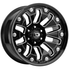 4 Vision 362 Armor 18x9 5x5 12mm Blackmilled Wheels Rims 18 Inch Fits 2012 Jeep Grand Cherokee