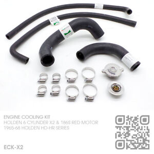 COOLING-KIT-RADIATOR-HOSES-CAP-THERMO-6-CYL-186X2-amp-186S-RED-MOTOR-HOLDEN-HR