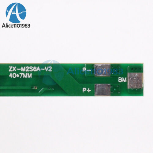 6A 7.2V 2S Dual MOS Polymer Lithium Battery Protect Board for 2Pcs 18650 Battery
