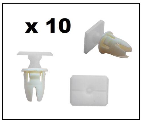 10 x MERCEDES Lower Door Seal Weatherstrip Moulage Garniture Clips avec oeillet