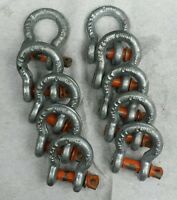 3/8 1 Ton Threaded Clevis Shackle (qty 10)