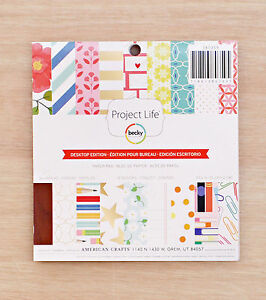 Project Life FOREVER YOUNG 6x6 Paper Pad Becky Higgins Scrapbook Pocket Page 36p