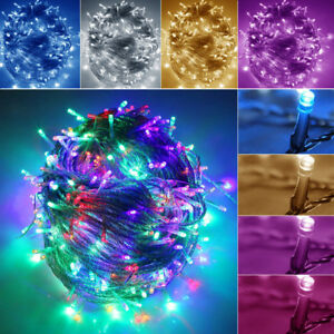 Details About Electric 30m 50m 100m Mains Plugin String Fairy Lighting Garden Outdoor Lights
