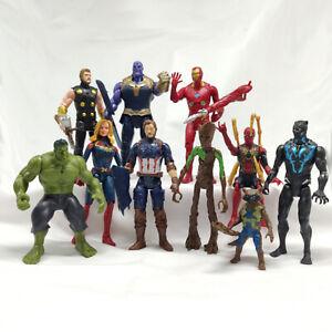 10-Set-16CM-Avengers-Playset-Thanos-Hulk-Iron-Man-Spider-Man-Iron-Man-Thor-Groot