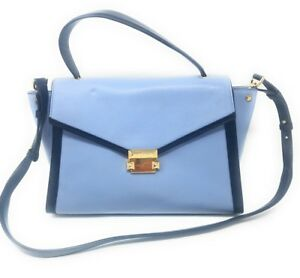 f313d2ff35c8 Image is loading Michael-Kors-Whitney-Large-Leather-Satchel-Pale-Blue-