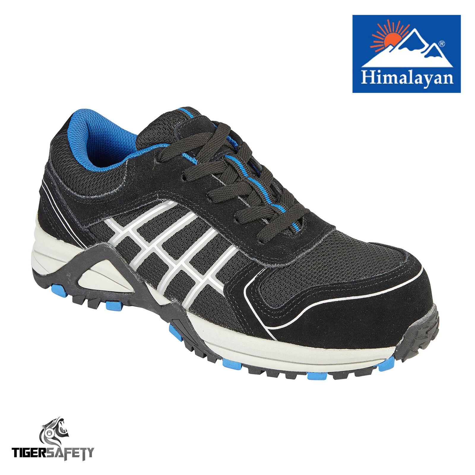 3421 dell'Himalaya S1P nera in pelle puntale composito metal free SNEAKERS DA