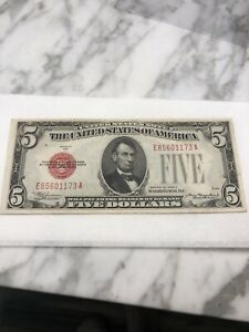 1928-C $5 Five Dollar Red Seal United States Note
