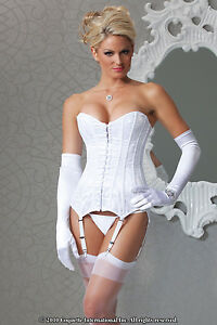 Sexy luxury white bridal corset bustier wedding underwear plus size image is loading sexy luxury white bridal corset bustier wedding underwear junglespirit Images