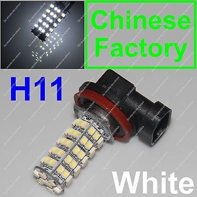 Xenon White 68 SMD Car H11 6000K LED Bulb Head Light Fog Daytime Lamp DRL 12V