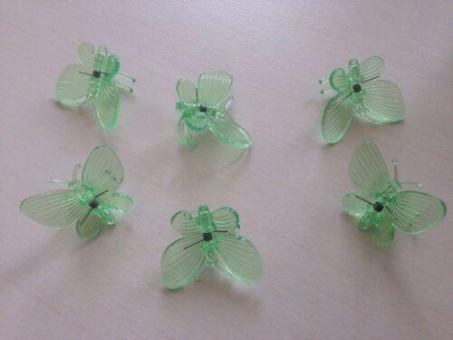 Orchideen Clips Klammern Schmetterling 6 x grün Dekoration