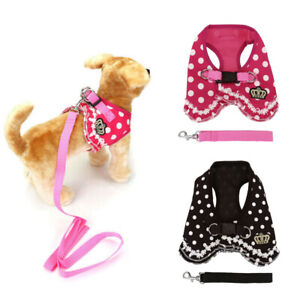 Crown-Dog-Soft-Harness-and-Leash-Small-Pet-Cat-Puppy-Vest-Walking-Safety-Control