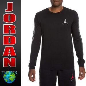 26ff7dbe2cb776 Nike Men s Size 2XL Air Jordan Cement Long-Sleeve Tee Shirt Black ...