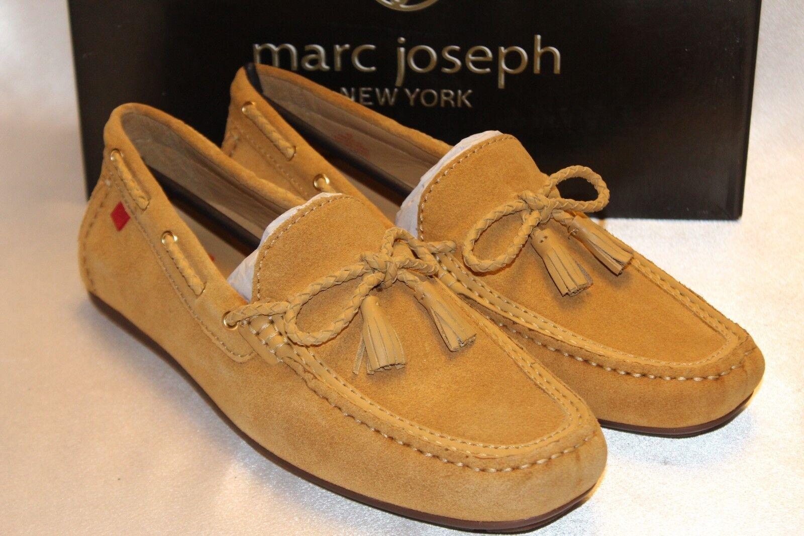 NEW! NIB! MARC JOSEPH Citrus Tan Suede PRINCE ST Driving Moccasin Shoes 10 EU42