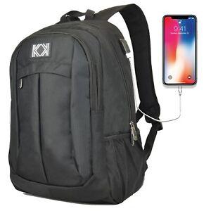 15-6-inch-Laptop-Backpack-School-College-Bag-Travel-Backpack-Rucksack-USB-Port