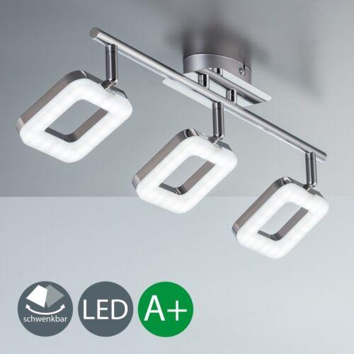 Deckenlampe LED Leuchte Lampe 3-flammig Spot-Strahler schwenkbar Chrom-Design