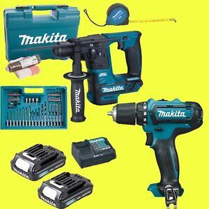 MAKITA-10-8-Volt-Set-Akku-Bohrhammer-HR166DSAE1-Akkuschrauber-DF331DZ