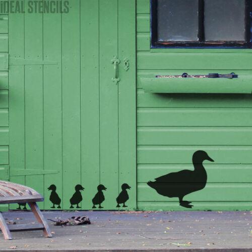 Ente Küken Schablone Garten Wand Wohndeko Kunst Handwerk Wiederverwendbar Malen