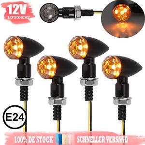 4x-12V-4-LED-Motorrad-Blinker-E-geprueft-Blinkleuchte-MINI-Universal-M8-IP65-E24