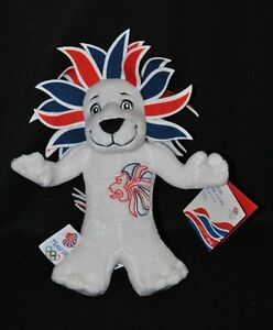 Peluche-doudou-mascotte-officielle-du-team-GB-Londres-2012-lion-23-cm-100-NEUF