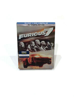 Fast Furious 7 Blu Ray Dvd Steelbook Extended Edition Best Buy Sealed New 25192300080 Ebay
