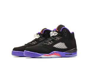 new concept aa6ba 23f58 Details about Nike Air Jordan 5 Retro GG UK 5.5 EUR 38.5 Black Ember Glow  Purple 440892 017
