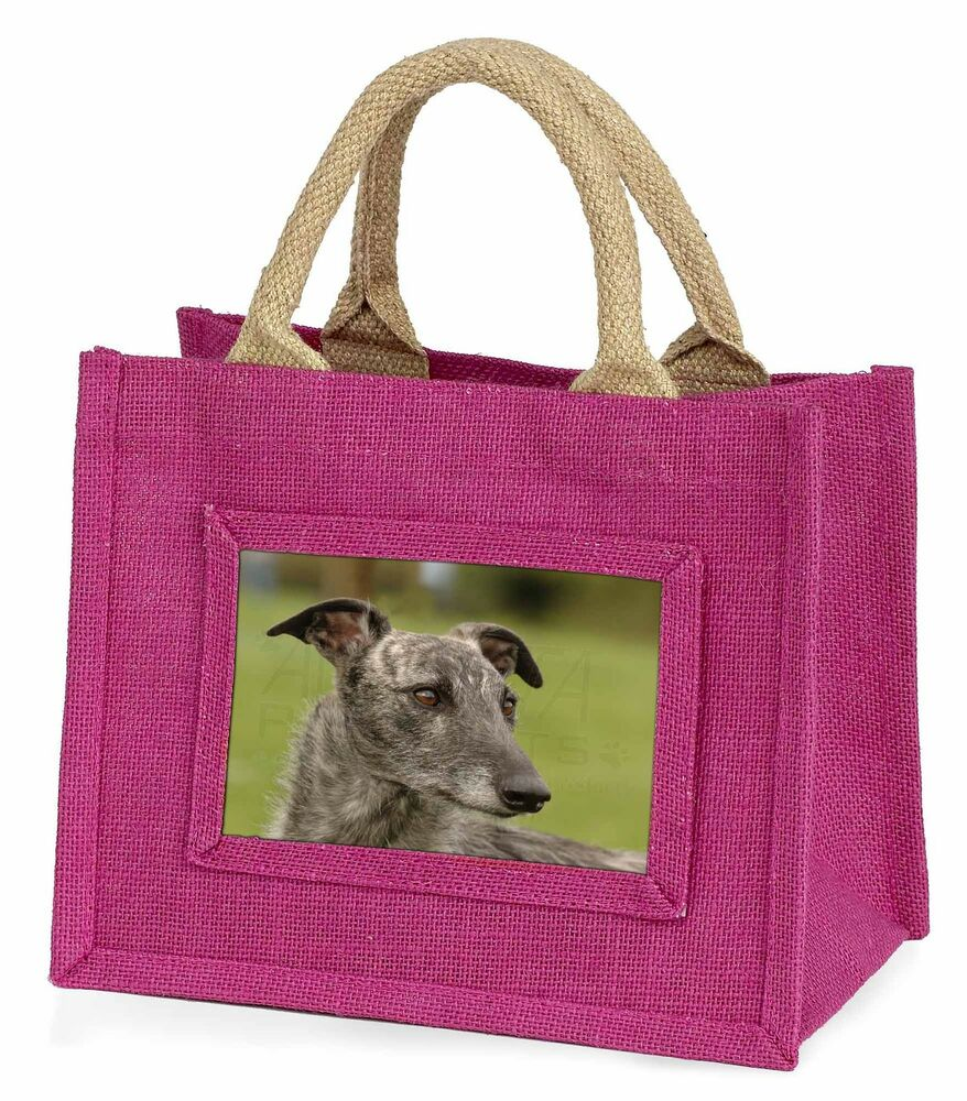 ObéIssant Lurcher Dog Little Girls Small Pink Shopping Bag Christmas Gift, Ad-lu1bmp éLéGant Et Gracieux